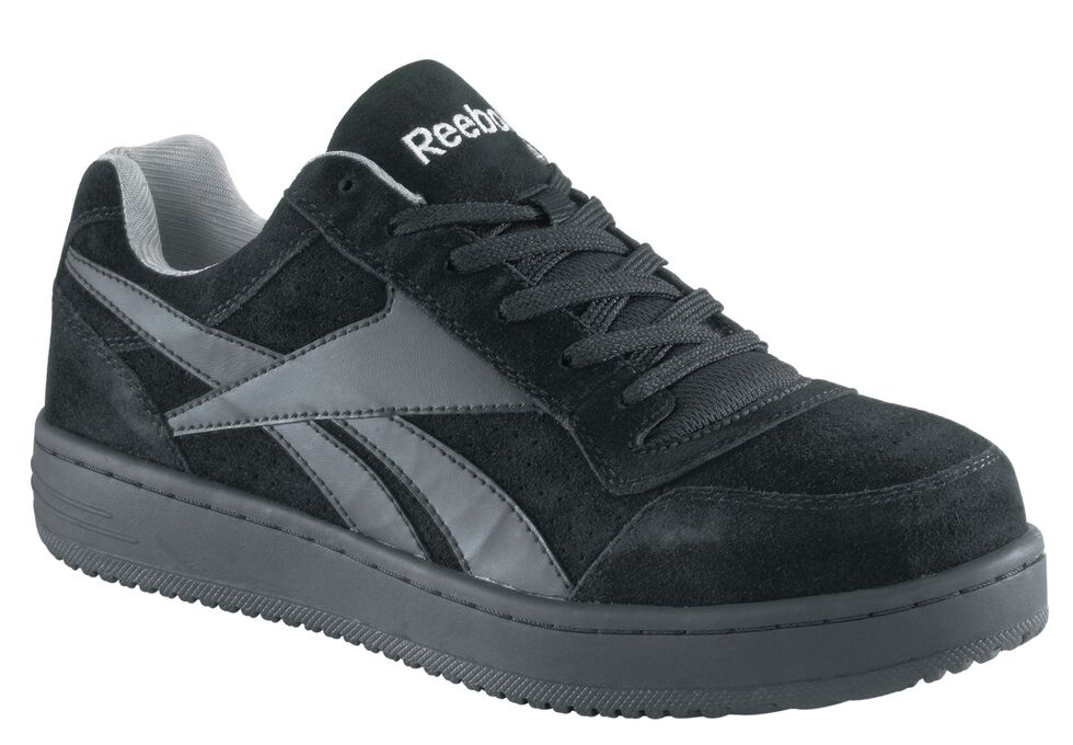 Reebok Men's Soyad Skateboard Work Shoes - Steel Toe, Black, hi-res