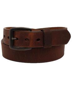 3D Men's Brown Leather Belt, Brown, hi-res