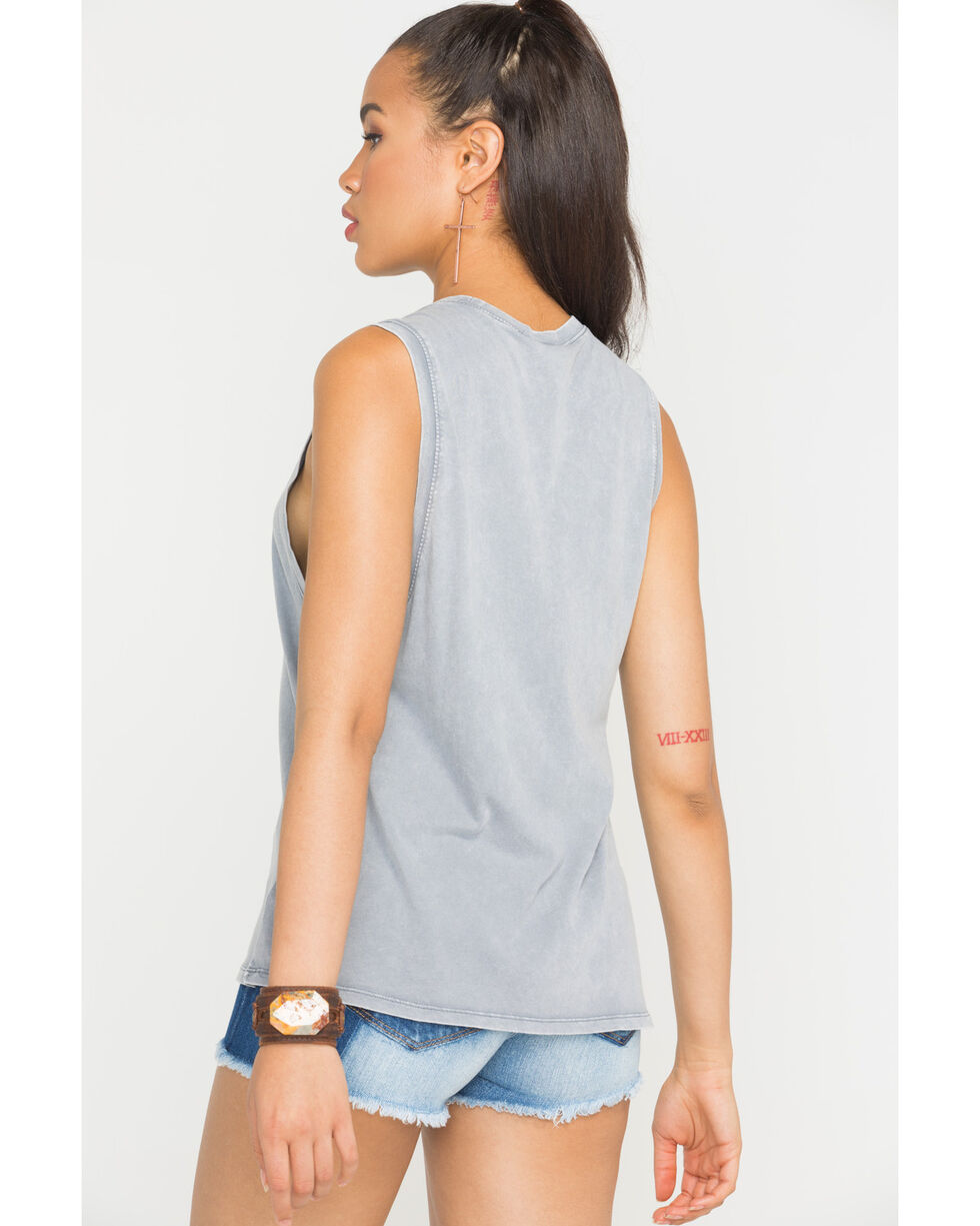 "Z Supply Women's ""Call The Shots"" Muscle Tank, Grey, hi-res"