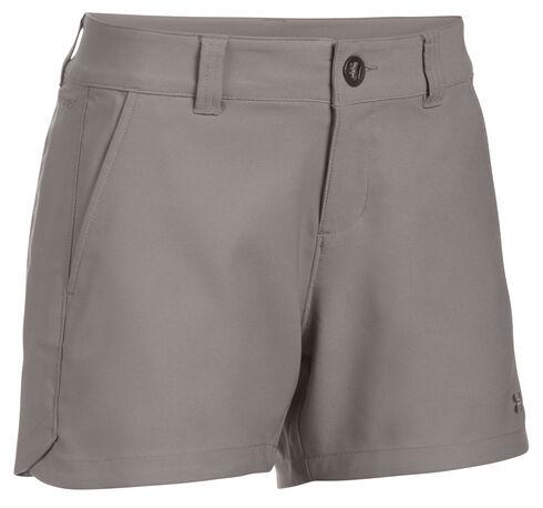 "Under Armour Women's Grey Fish Hunter 4"" Inseam Shorts, Grey, hi-res"