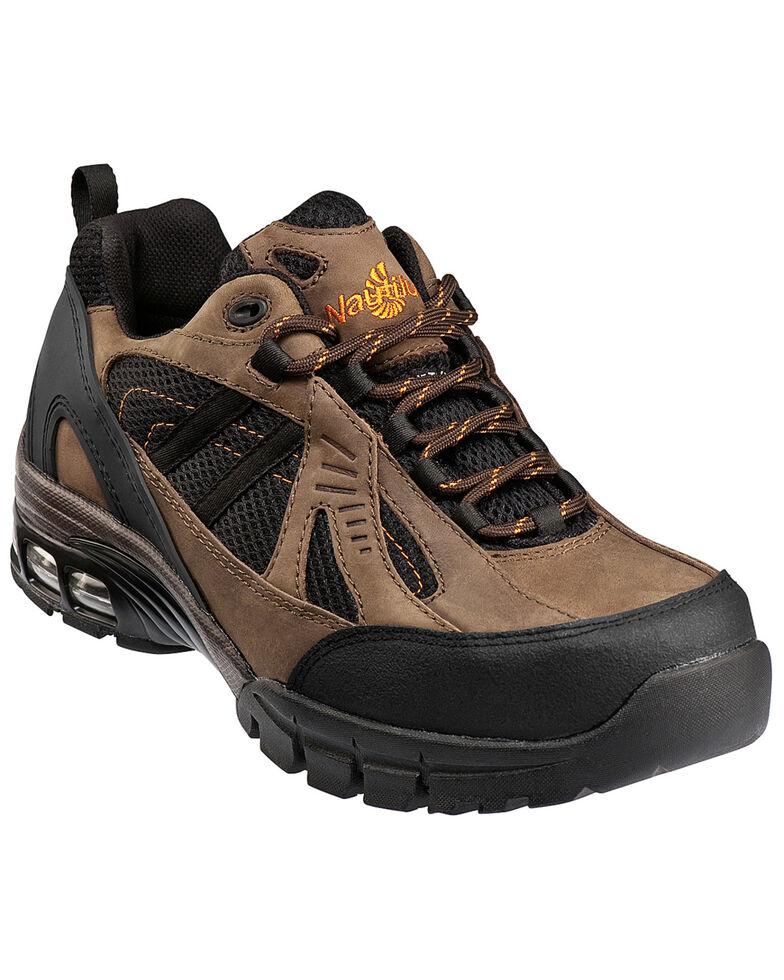 Men's Nautilus Men's Brown Metal Free Work Athletic Shoes - Composite Toe , Brown, hi-res