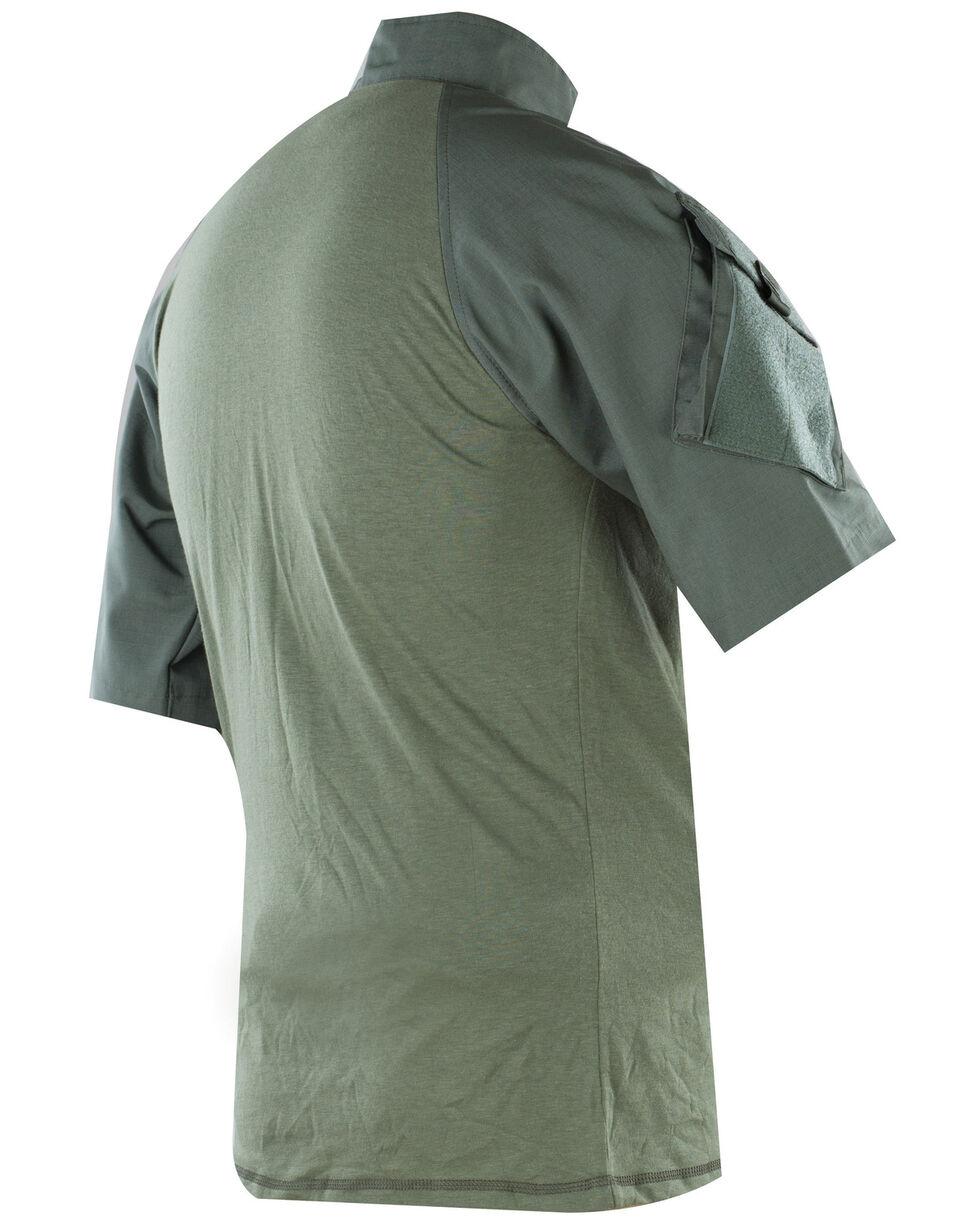 Tru-Spec Men's Olive Nylon / Cotton 1/4 Zip Short Sleeve Combat Shirt, Olive, hi-res