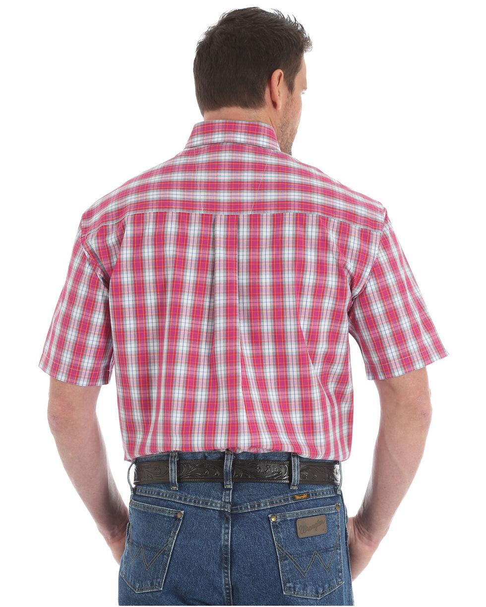 Wrangler George Strait Men's Red Plaid Short Sleeve Button Down Shirt - Tall, , hi-res