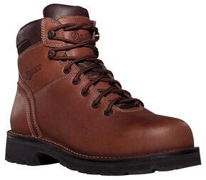 """Danner Workman GTX 8"""" Waterproof Work Boots - Alloy Toe, Brown, hi-res"""