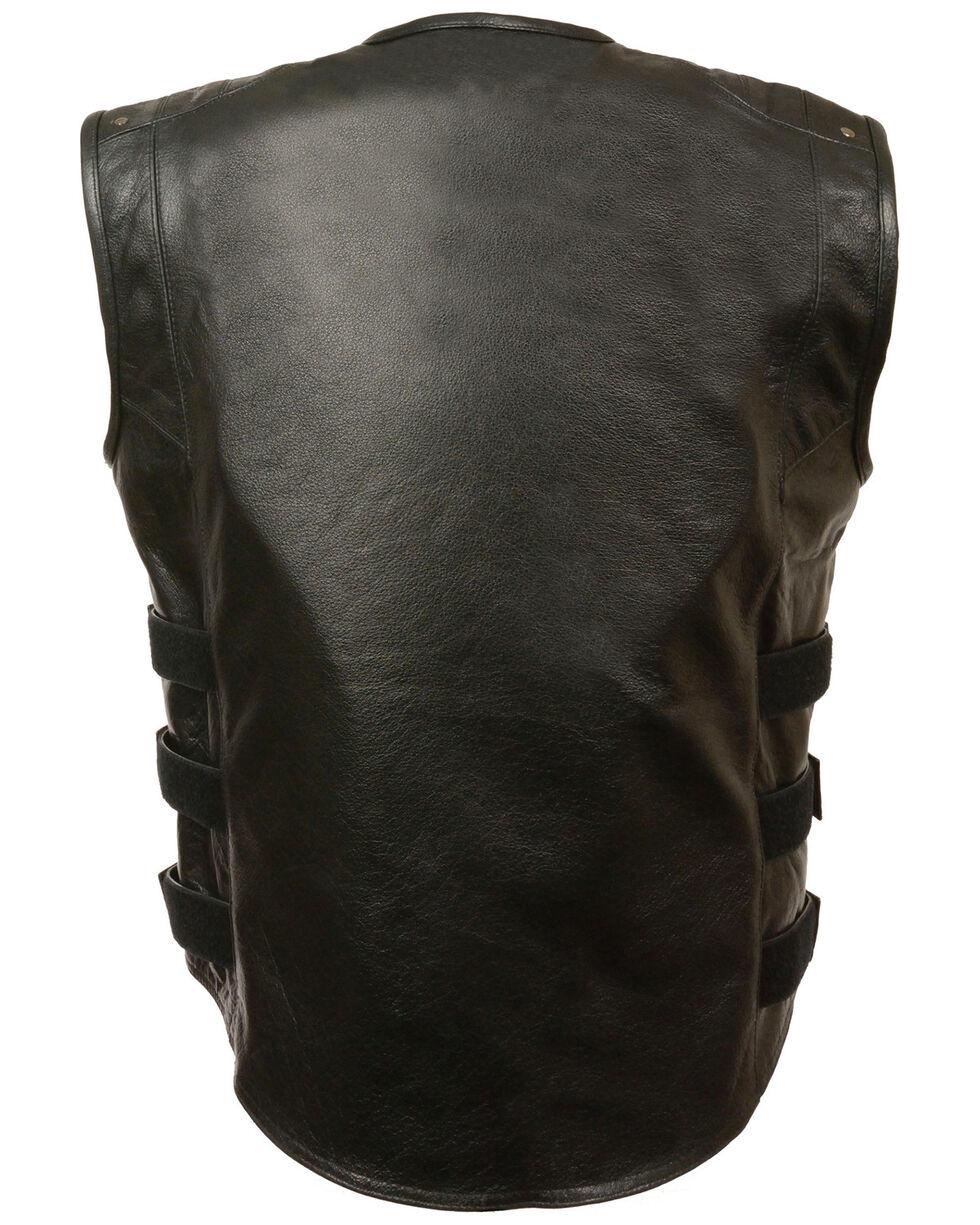 Milwaukee Leather Men's Updated SWAT Style Biker Vest - 5X, Black, hi-res