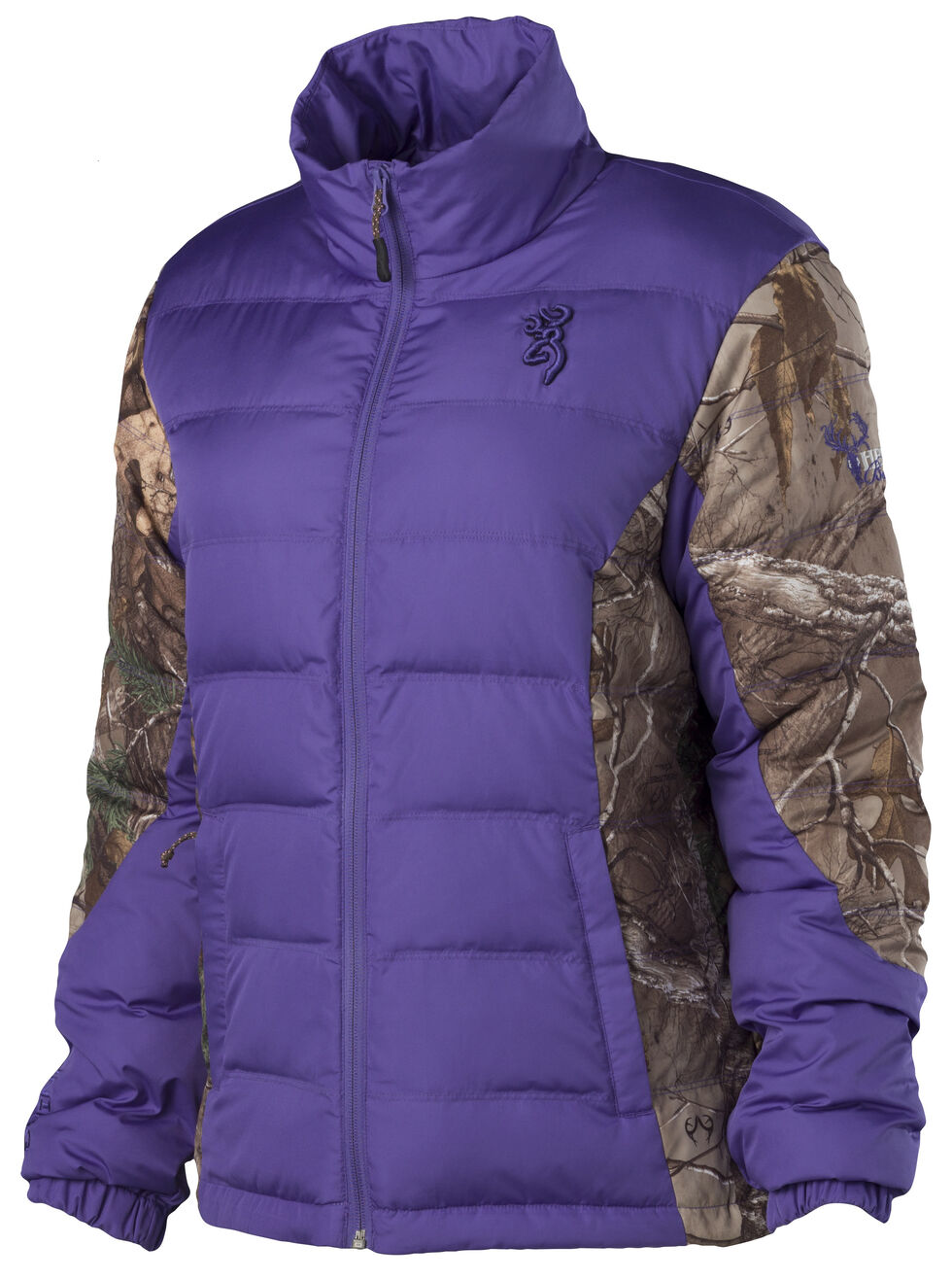 Browning Hell's Belles Plum and Camo Blended Down Jacket, Plum, hi-res