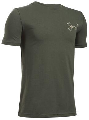 Under Armour Boys' Green Big Mouth Strike T-Shirt , Green, hi-res