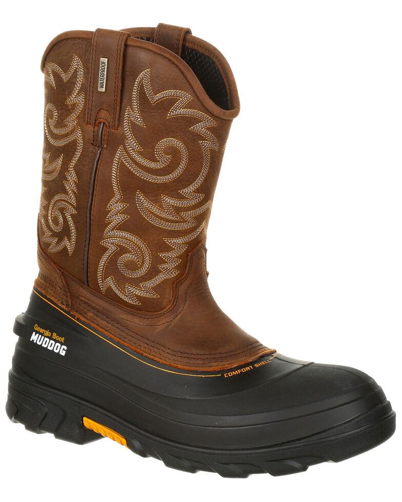 1a5010287bf Georgia Boot Men's Muddog Waterproof Western Work Boots - Round Toe