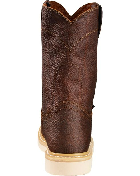 Justin Premium Wedge Work Boots - Soft Round Toe, Tan, hi-res