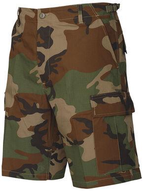 Tru-Spec Men's Woodland Camo BDU Shorts, Camouflage, hi-res
