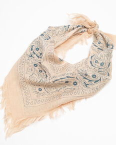 Idyllwind Women's Light Taupe Summer Dreamin' Bandana Scarf , Taupe, hi-res