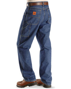 Wrangler Riggs Men's FR Carpenter Relaxed Fit Work Jeans , Indigo, hi-res