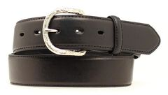 Nocona Classic Black Leather Belt, Black, hi-res