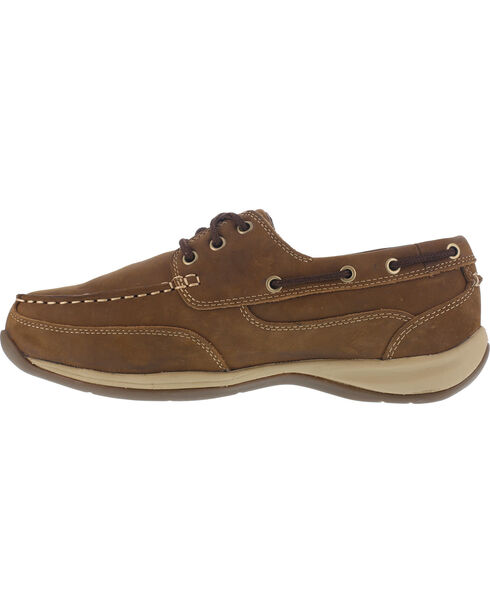 Reebok Women's Sailing Club Construction Shoes - Steel Toe , Brown, hi-res