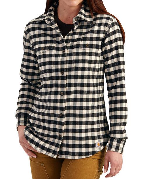 Carhartt Women's Hamilton Flannel Shirt, Black, hi-res