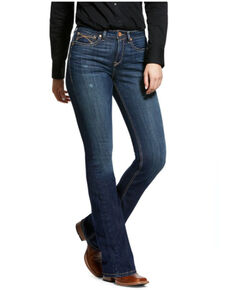 Ariat Women's Marine Stitch Bootcut Jeans, Dark Blue, hi-res