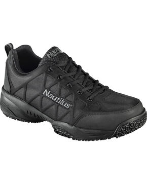 Nautilus Men's Black Athletic Work Shoes - Composite Toe , Black, hi-res