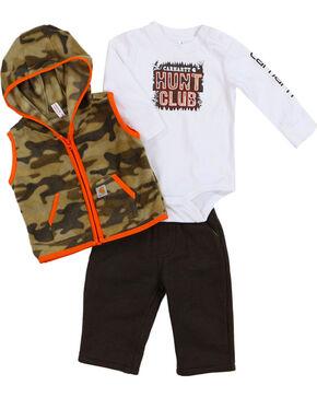 Carhartt Infant Boys' Hunt Club Pant Set, Tan, hi-res