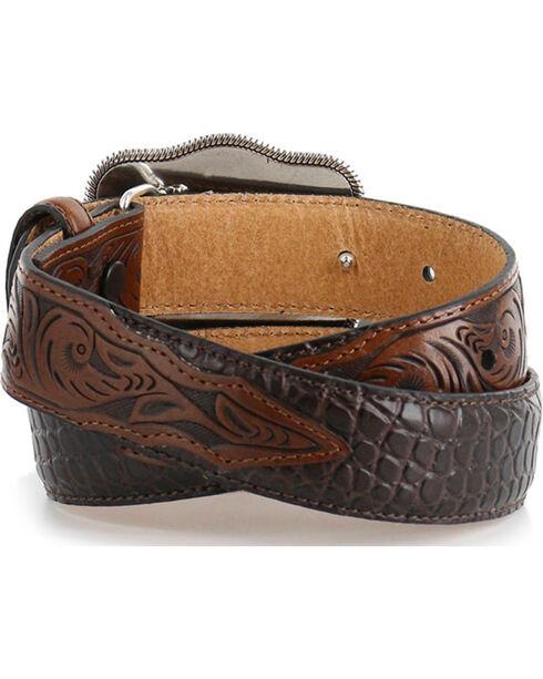 Cody James® Kid's Gator Print Belt, Brown, hi-res