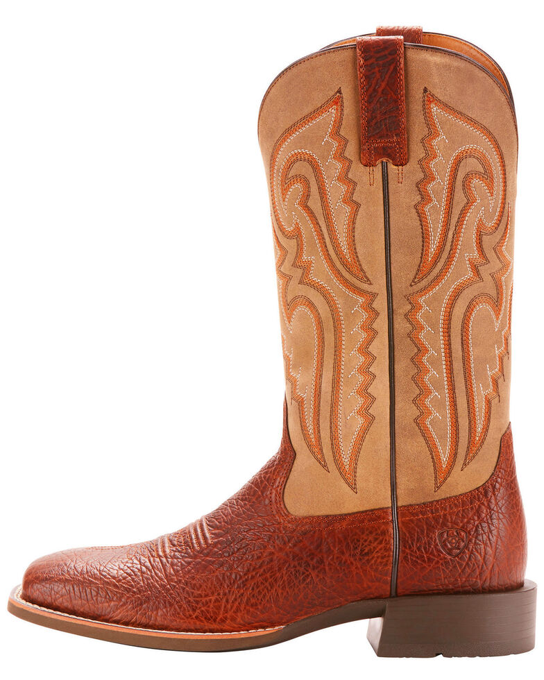 Ariat Men's Cognac Heritage Latigo Western Boots - Wide Square Toe , Cognac, hi-res