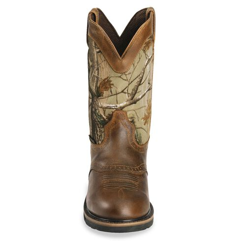 Justin Stampede Camo Waterproof Work Boot - Round Toe, Camouflage, hi-res