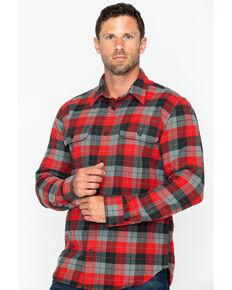 Filson Men's Vintage Flannel Work Shirt , Grey, hi-res