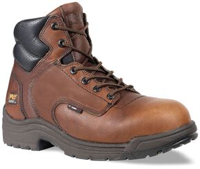 "Timberland Pro Men's 6"" TiTAN Work Boots - Composite Toe, Camel, hi-res"