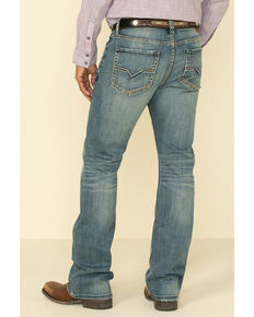 Moonshine Spirit Men's Pardner Stretch Slim Boot Jeans , Blue, hi-res