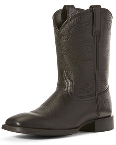 Ariat Women's Roper Western Boots - Wide Square Toe, Black, hi-res