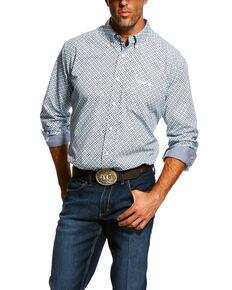 Ariat Men's Relentless Dedication Geo Print Long Sleeve Western Shirt , White, hi-res
