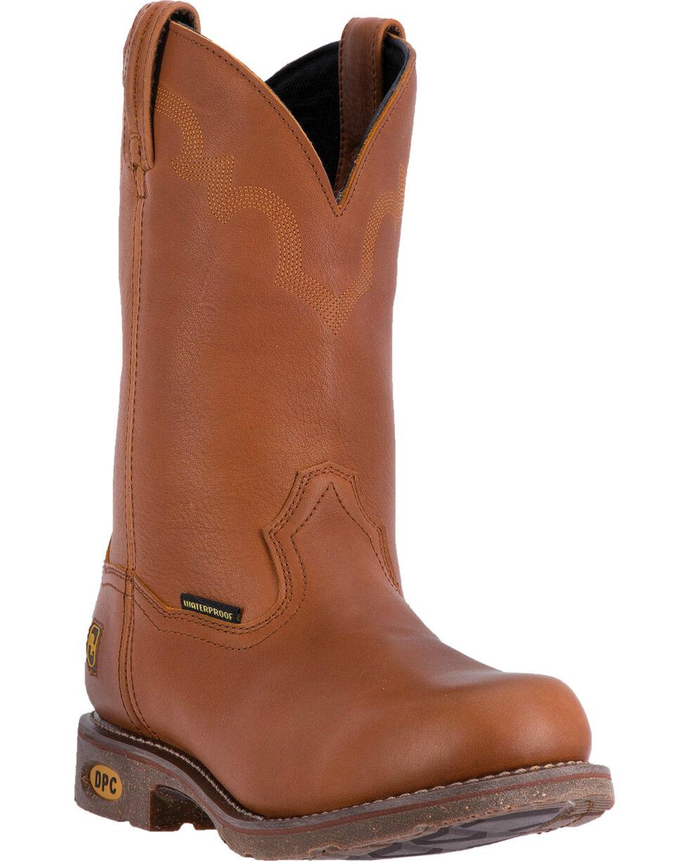 Dan Post Honey Brown Lawton Cowboy Work Boots - Steel Toe, Honey, hi-res