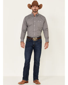 Ariat Men's Resolve Stretch Geo Print Long Sleeve Western Shirt , Navy, hi-res
