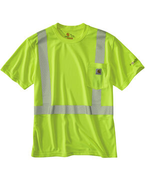 Carhartt Force High-Viz Short Sleeve Class 2 T-Shirt, Lime, hi-res
