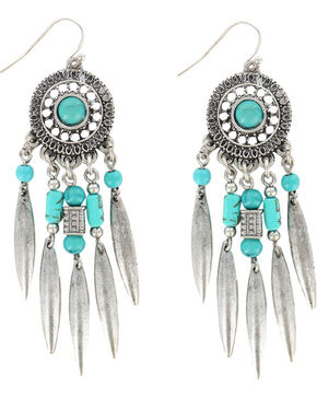 Shyanne Women's Dreamcatcher Earrings, Silver, hi-res