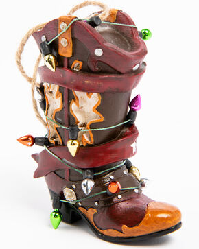 BB Ranch Red Cowboy Boot Christmas Light Ornament , Red, hi-res