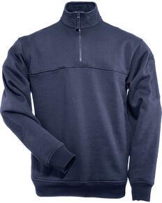 5.11 Tactical Quarter Zip Job Shirt, Navy, hi-res