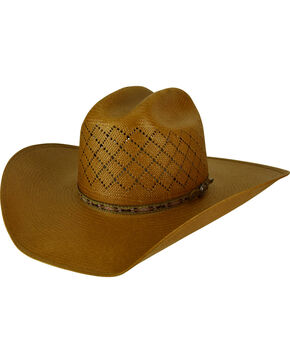 Bailey Men's Ruger II 15X Straw Western Hat, Brown, hi-res