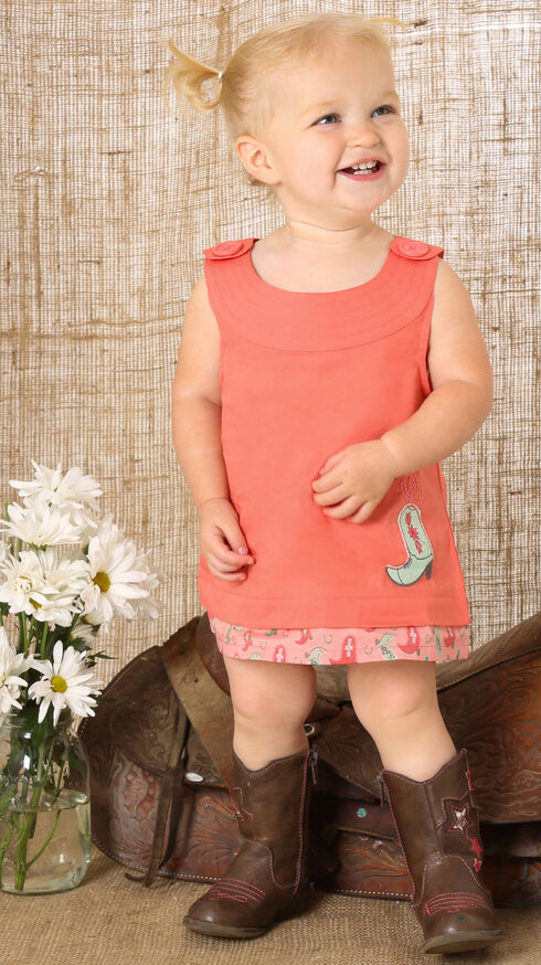 Wrangler Watermelon Sleeveless Ruffle Bloomer Romper, Red, hi-res