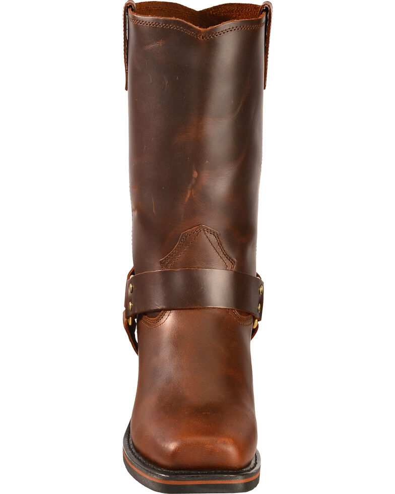 Dingo Jay Harness Boots - Square Toe, Mahogany, hi-res
