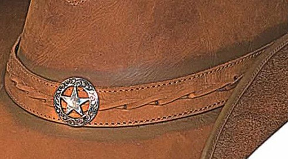 Bullhide Copper Creek Leather Hat, Honey, hi-res