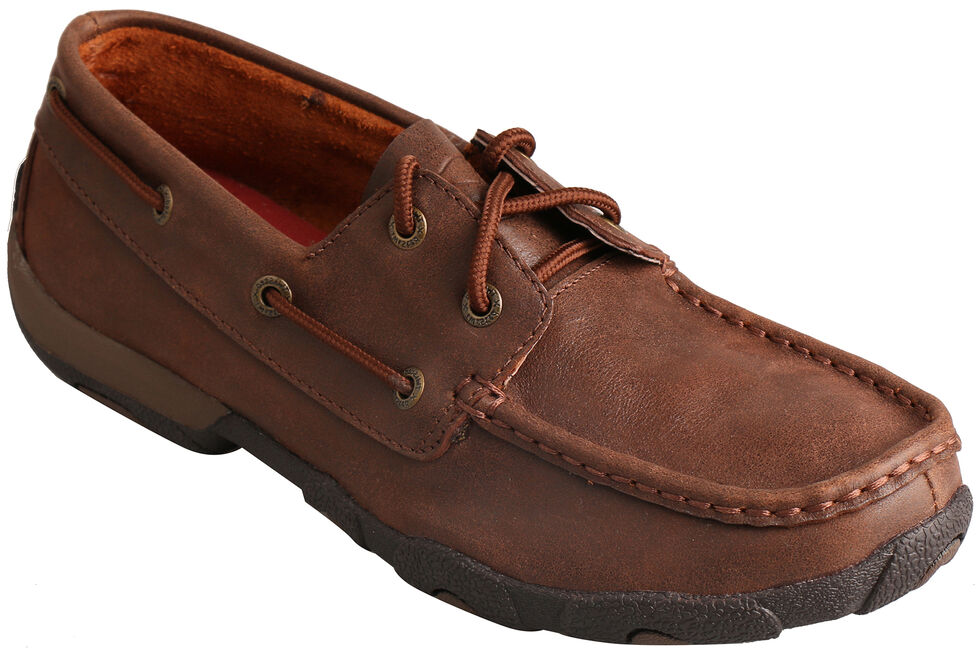 Twisted X Women's Solid Brown Driving Mocs , , hi-res