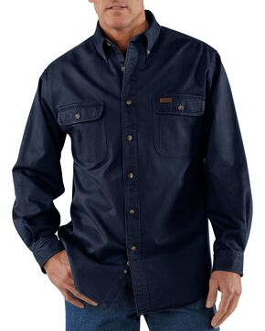 Carhartt Sandstone Twill Work Shirt - Big & Tall, Midnight, hi-res