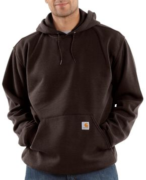Carhartt Hooded Sweatshirt - Big & Tall, Dark Brown, hi-res