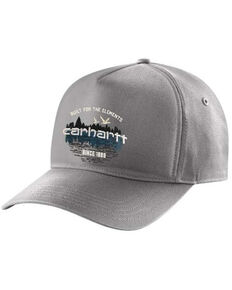 Carhartt Men's Canvas Outdoor Graphic Structured Trucker Cap , Charcoal, hi-res