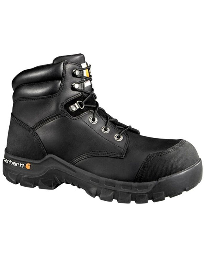 "Carhartt Men's 6"" Rugged Flex Waterproof Work Boots - Composite Toe, Black, hi-res"
