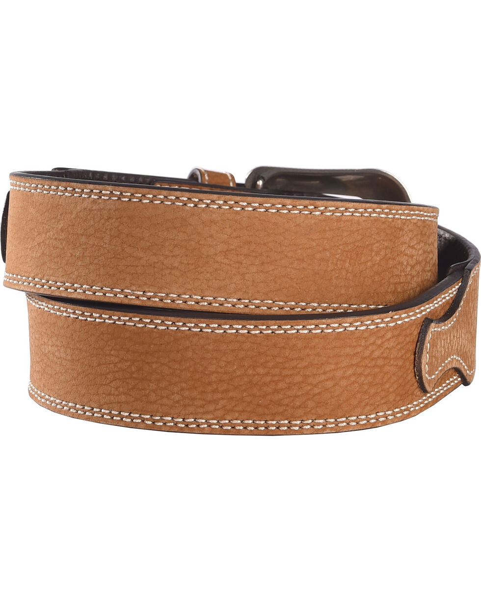 G Bar D Men's Brown Leather Belt, Brown, hi-res