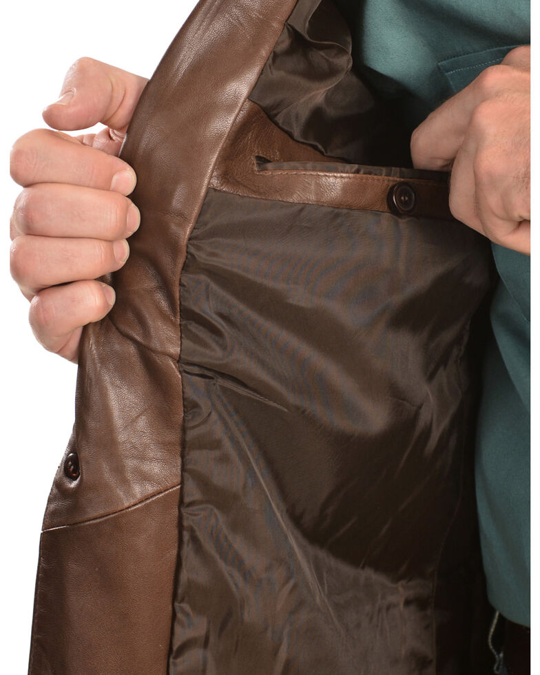 Scully Lamb Leather Blazer - Reg , Chocolate, hi-res