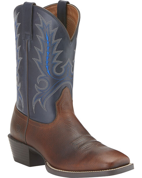 Ariat Sport Outfitter Cowboy Boots - Wide Square Toe, Brown, hi-res