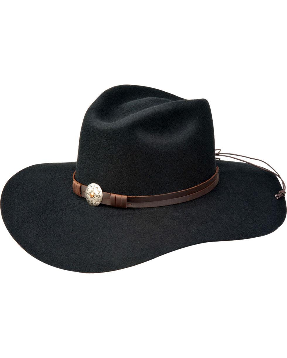 Silverado Women's Scarlet Pinch Front Western Hat , Black, hi-res