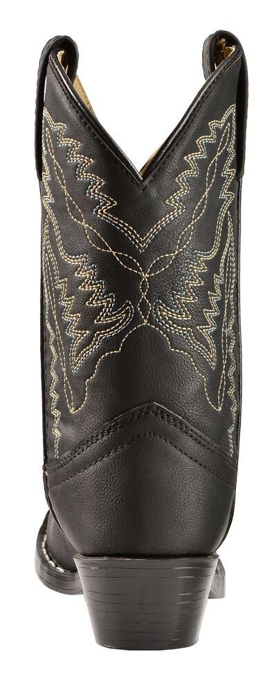 Swift Creek Boys' Black Cowboy Boots - Round Toe